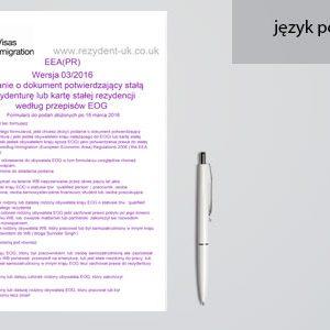 tłumaczenie formularza EEA (PR)
